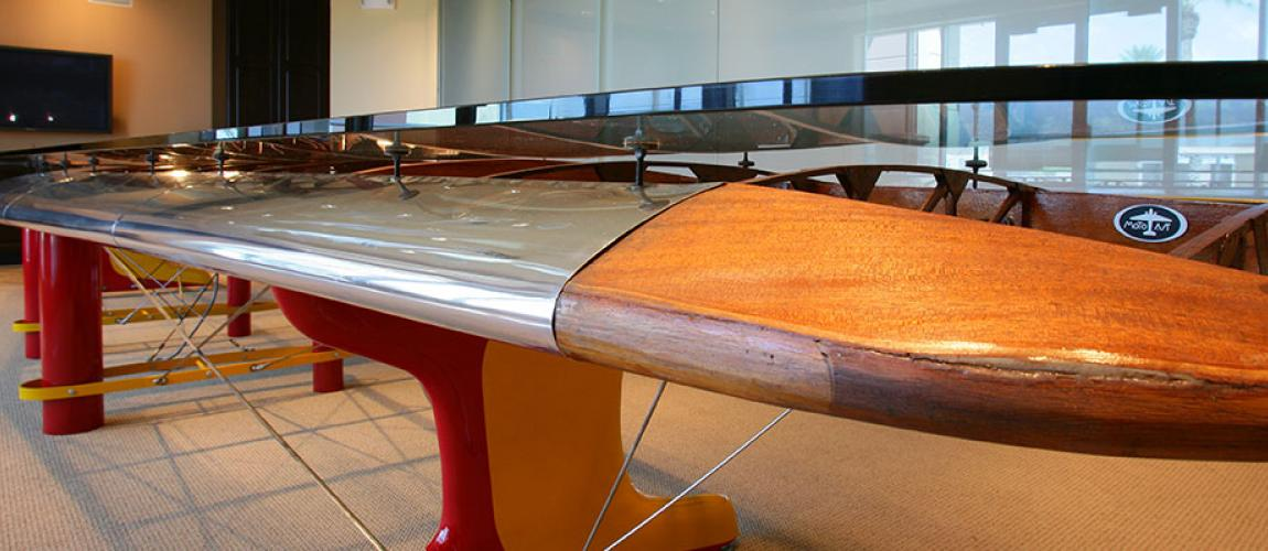 Airplane Wing Conference Table Modern Coffee Tables And